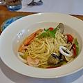 台中-大墩十四街-House Pasta & Coffee-義大利麵-雙醬粉紅醬-清炒-青醬 (16)
