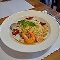 台中-大墩十四街-House Pasta & Coffee-義大利麵-雙醬粉紅醬-清炒-青醬 (18)