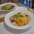 台中-大墩十四街-House Pasta & Coffee-義大利麵-雙醬粉紅醬-清炒-青醬 (21)