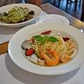 台中-大墩十四街-House Pasta & Coffee-義大利麵-雙醬粉紅醬-清炒-青醬 (22)