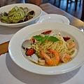 台中-大墩十四街-House Pasta & Coffee-義大利麵-雙醬粉紅醬-清炒-青醬 (23)
