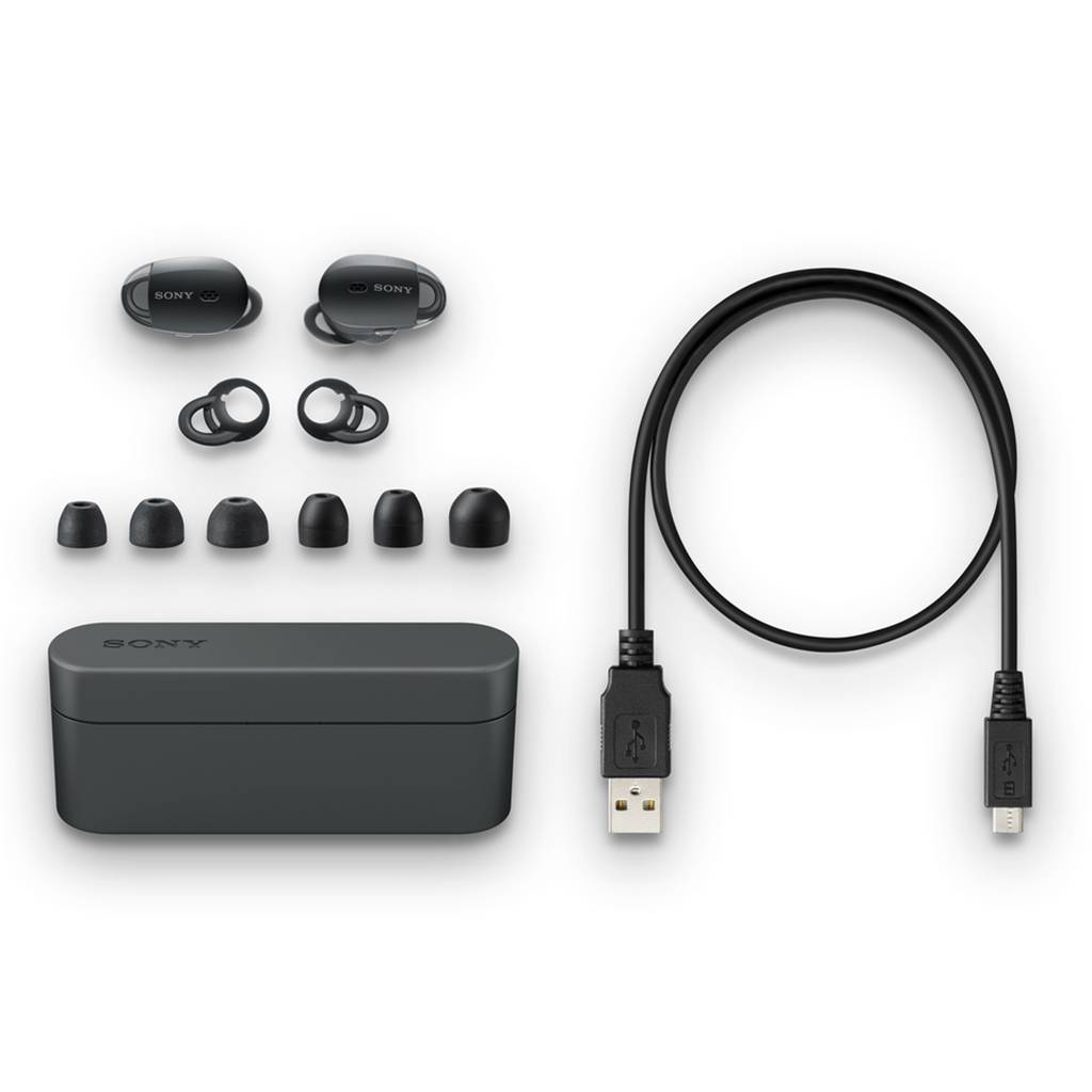 Sony WF-1000X 真無線耳機內附多組耳塞及耳內穩定器