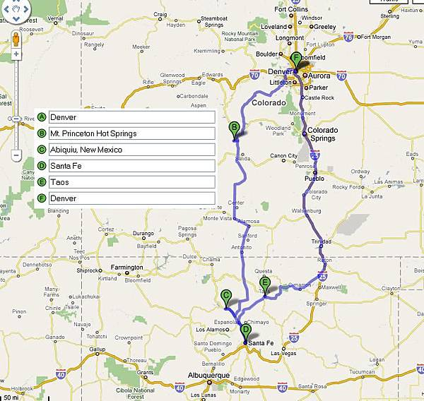 New Mexico Trip planning