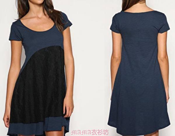 藍色搭配黑蕾絲洋裝.jpg