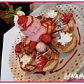 HANA名物:季節限定草莓鬆餅