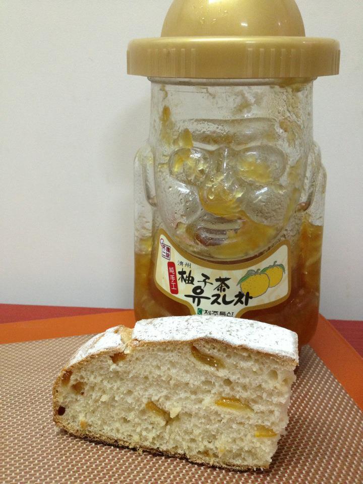 天然酵母柚子麵包