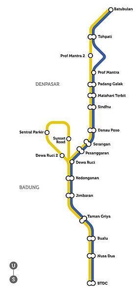 巴里島公車路線圖