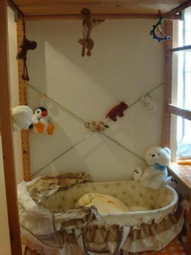我住在動物園裹 - 回台北的家,北極熊拔拔幫我準備的床,好多動物,很像住在動物園裏