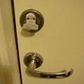 門鎖也冷到結冰了