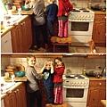 幫忙... (姐姐11歲,已經會自己揉麵糰,作餅乾。希望雅雅好好學學,我也可以坐在沙發上蹺腳等她作的餅乾。)