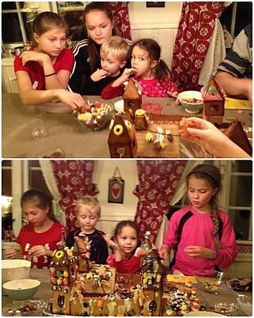 黏糖果時很容易會看到偷吃糖果的小孩,一個鏡頭中就捉到兩隻