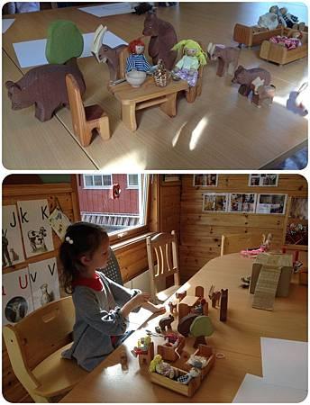 第一天在挪威幼兒園試上,這是我很喜歡的一份教具