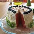 切塊後的西瓜蛋糕