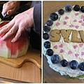 這次做的另一個讓小熊寶貝帶去學校的西瓜蛋糕