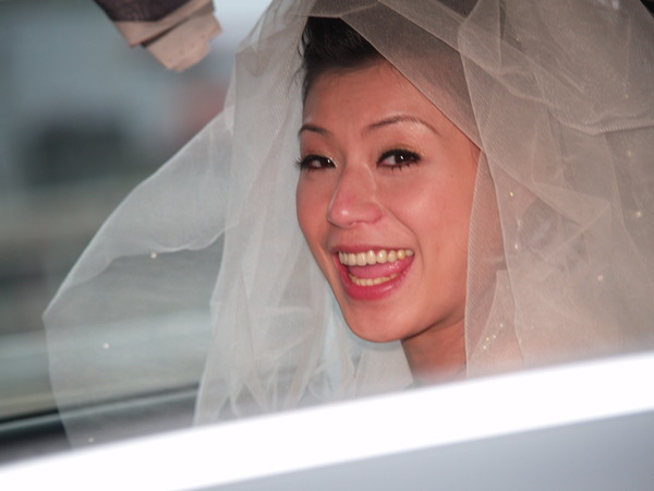 Happy Bride in Highway.jpg