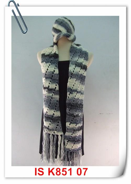 翠堤 斜紋帽及圍巾001
