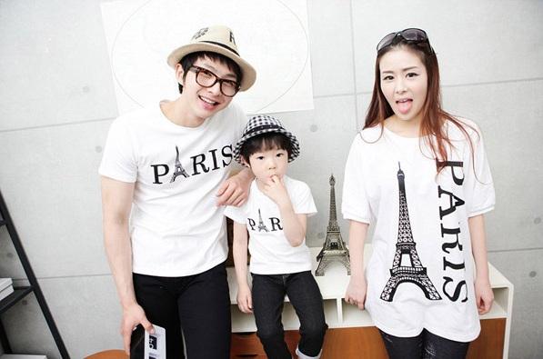 親子裝 分享 時尚鐵塔風情長版上衣