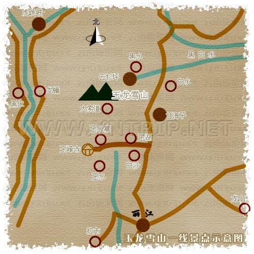 玉龍雪山地圖