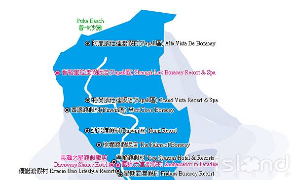 PUKA BEACH 地圖