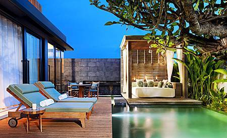 Marvelous One Bedroom Pool Villa - daybeds.jpg