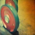 舊草嶺隧道的金屬製的偽輪胎.JPG