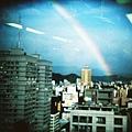 某天台北天空出現的彩虹