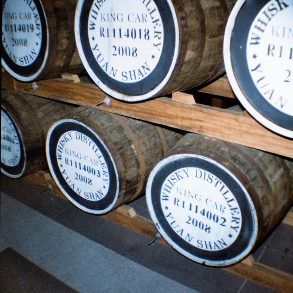 威士忌酒莊的木桶