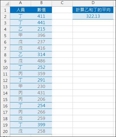 Excel-計算多條件的篩選的數值平均(陣列公式,SUMPRODUCT,MATCH)