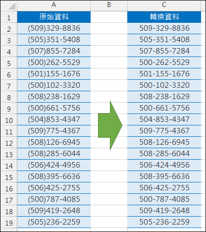 Excel-轉換資料格式(SUBSTITUTE,VALUE,數值格式設定)