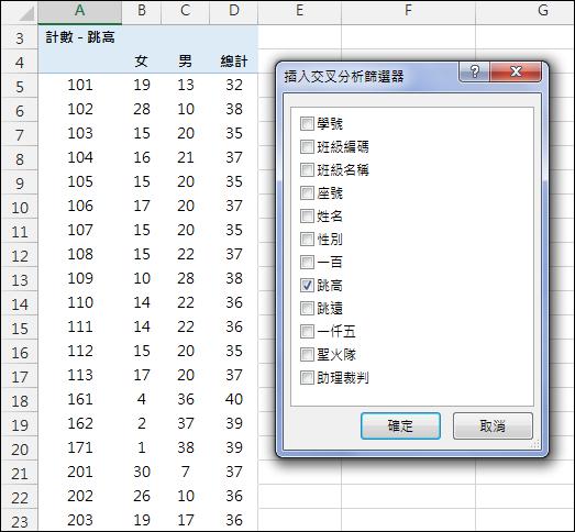 Excel-報名表資料處理(SUMPRODCUT,INDIRECT,樞紐分析表和交叉分析篩選器)
