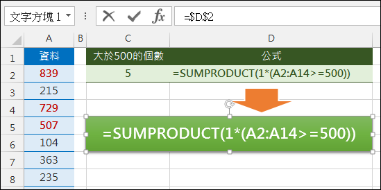 Excel-將儲存格公式放在文字框中(FORMULATEXT)