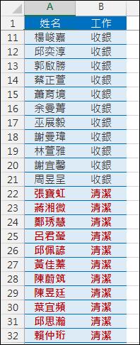 Excel-從完整清單中分列不同項目的清單(SUMPRODUCT,OFFSET)
