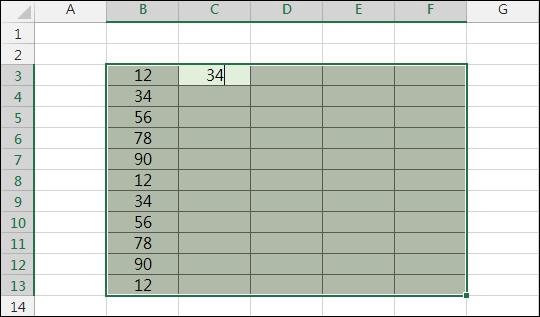 Excel-在儲存格輸入資料時設定輸入順序