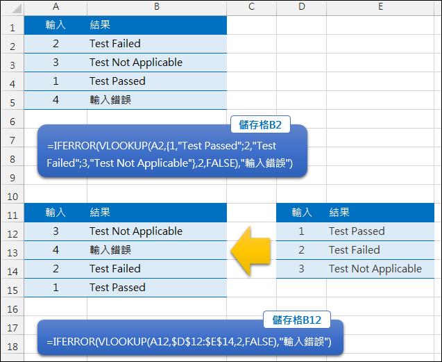 Excel-多選一輸出(VLOOKUP,IFERROR)