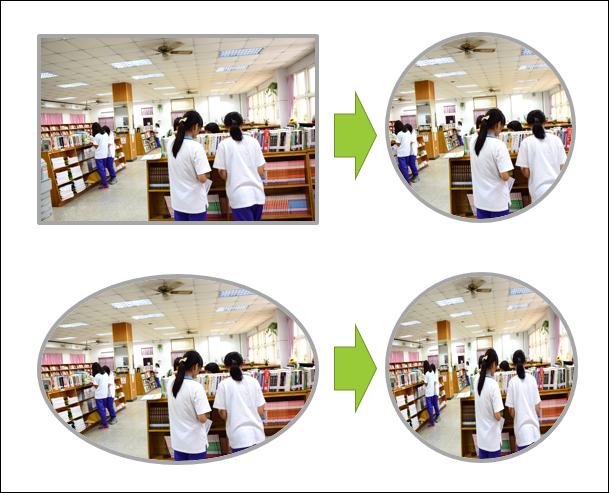 Word-將矩形照片改成正圓形,照片內容不變形。