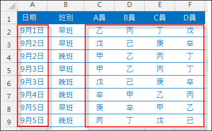 Excel-資料表重組(SUMPRODUCT,OFFSET,ROW)