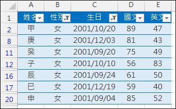 Excel-在進階篩選中使用公式運算