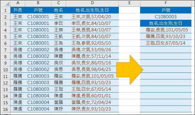 Excel-由原始清單中挑出符合指定內容的清單(ROW,SMALL,OFFSET).xlsx