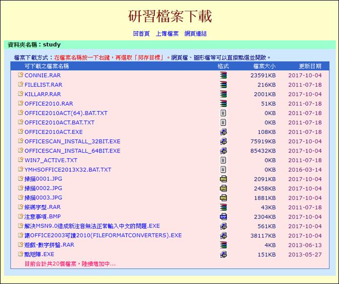幫助不會網頁製作的同仁產生檔案下載網頁(ASP網頁+FTP+檔案同步軟體)