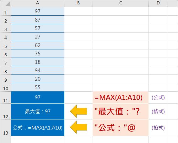 Excel-在儲存格中顯示文字串接公式或公式結果