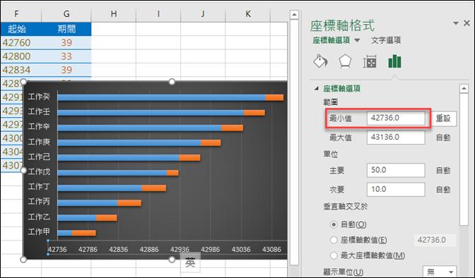 Excel-繪製甘特圖