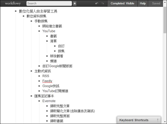 將WorkFlowy的內容轉換至XMind