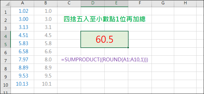 Excel-公式運算(SUMPRODUCT)