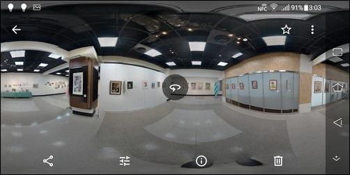 Google相簿可以檢視用手機拍攝的360度照片