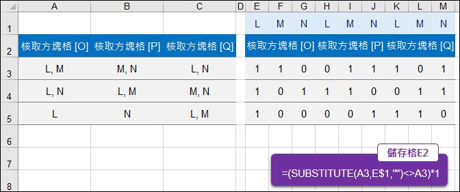 Google表單-題目選項對照儲存在試算表的資料格式