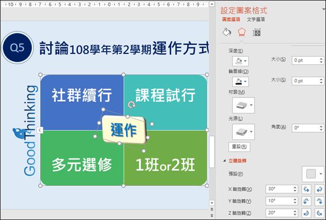 PowerPoint-對關聯圖中的圖案做細部設定來改造關聯圖