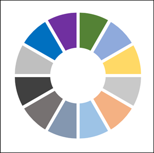 PowerPoint-製作多個環圈扇形