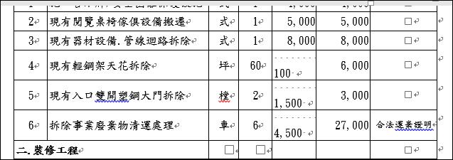 Word-解決表格中的文字無法正確靠右對齊的問題