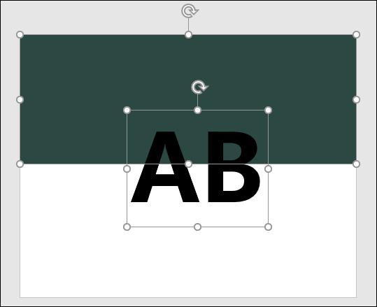 PowerPoint-製作色彩對稱的文字