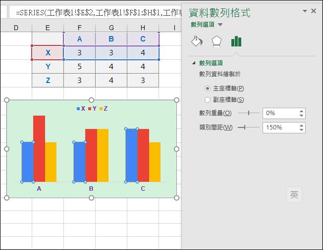 Excel-製作Google表單填答結果的統計圖表(SUMPRODUCT,SUBSTITUTE)